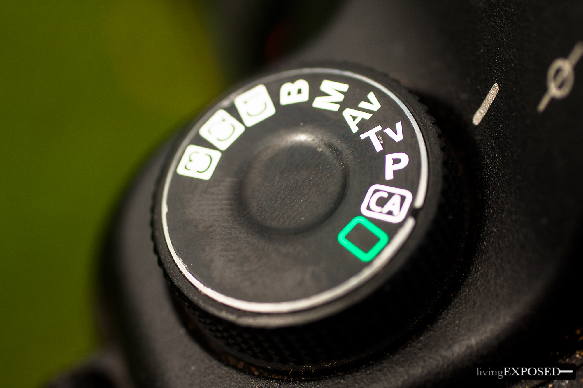 Tv or S Mode Camera Setting on the mode dial of a Canon 5D